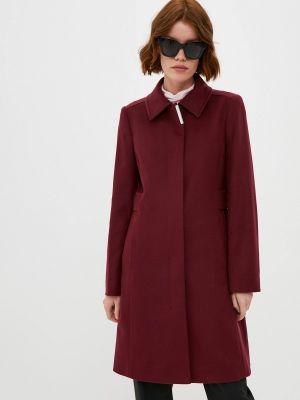 Бордовое пальто осеннее Boss