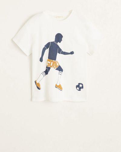 Футболка с принтом эластичная Mango Kids