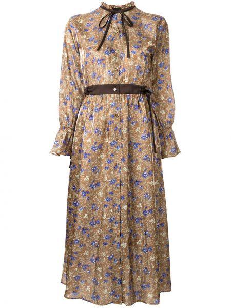 Платье макси на пуговицах с цветочным принтом Loveless