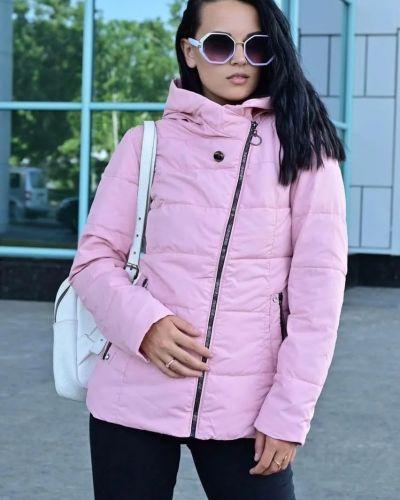 Куртка из плащевки - розовая No Brand