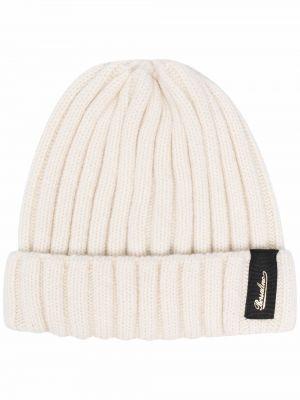 Biała czapka prążkowana Borsalino