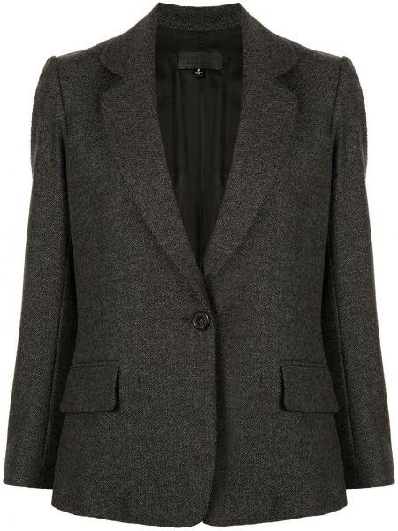 Шерстяной серый удлиненный пиджак с карманами Nili Lotan