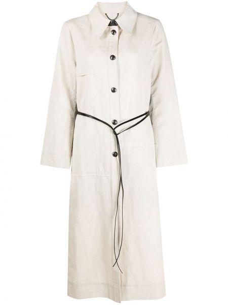 Кожаное длинное пальто с капюшоном с воротником Dorothee Schumacher
