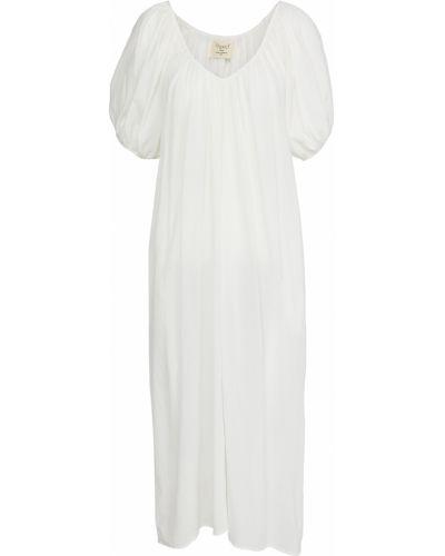 Хлопковое белое платье стрейч 9seed