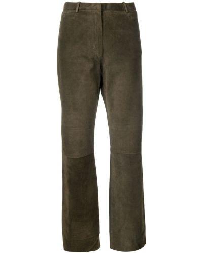 Желтые расклешенные брюки винтажные с поясом Jil Sander Pre-owned