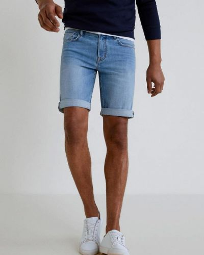 Джинсовые шорты синий Mango Man