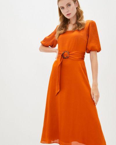 Коричневое прямое платье Akhmadullina Dreams