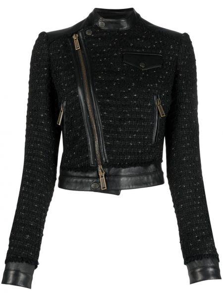 Лаковая куртка - черная Dsquared2