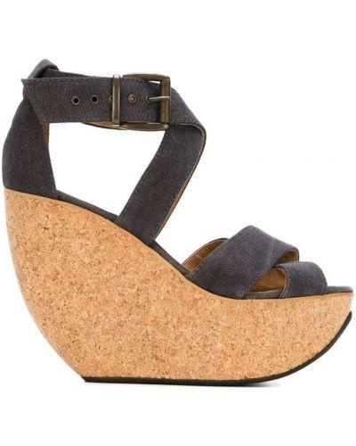 Босоножки на танкетке кожаные для обуви Minimarket