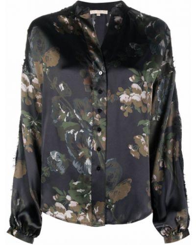 Koszula w kwiaty - czarna Gold Hawk
