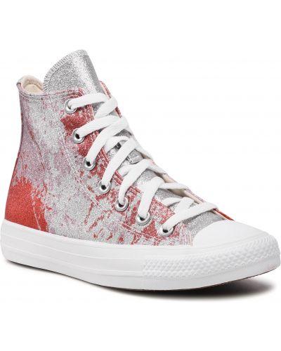 Trampki srebrne - białe Converse