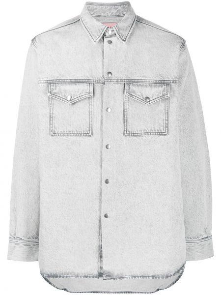Klasyczna koszula z długim rękawem jeansowa Acne Studios