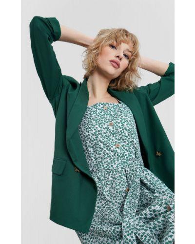 Удлиненный пиджак двубортный с воротником на пуговицах Ostin