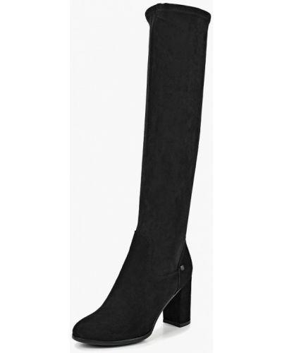 Ботфорты на каблуке черные демисезонный Provocante