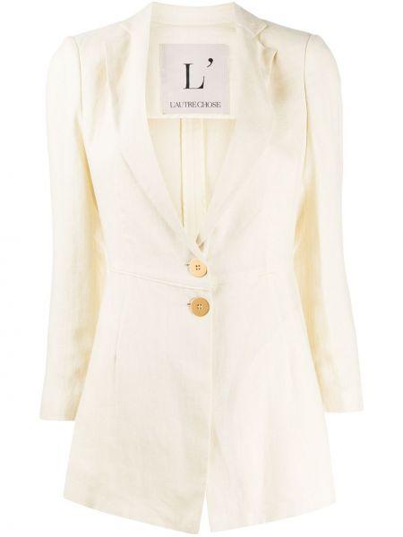 Прямой пиджак на пуговицах из вискозы L'autre Chose