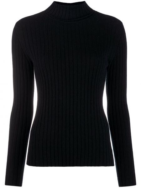 С рукавами кашемировый черный свитер эластичный N.peal