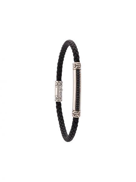 Черный плетеный браслет John Hardy