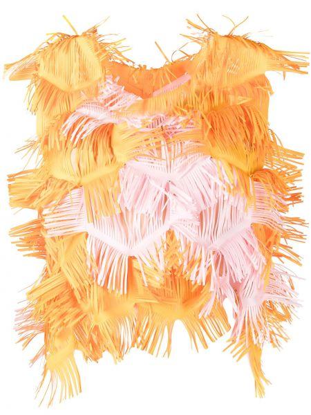 Блузка без рукавов - оранжевая Paskal