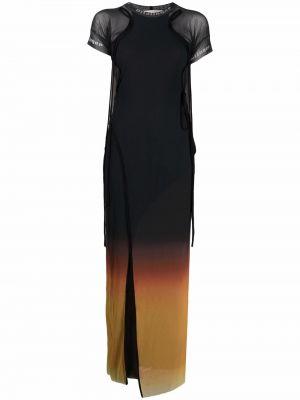 Czarna sukienka mini krótki rękaw Ottolinger