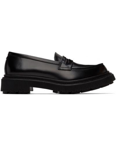 Czarne loafers zamszowe Adieu