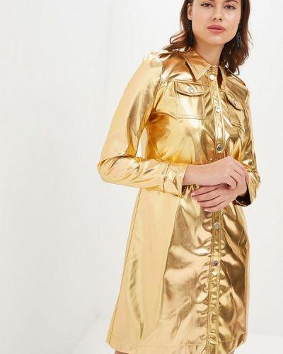 Платье кожаное весеннее Tutto Bene