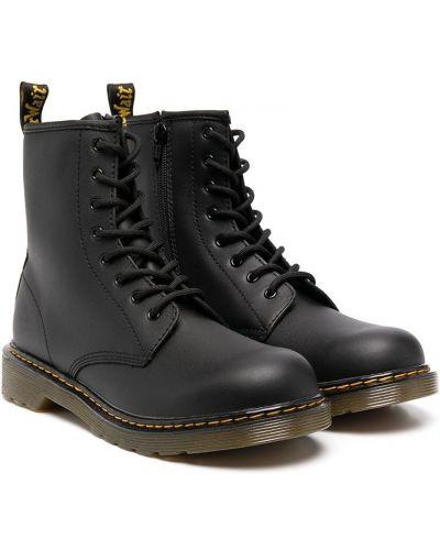 Кожаные черные ботинки на шнуровке Dr. Martens Kids