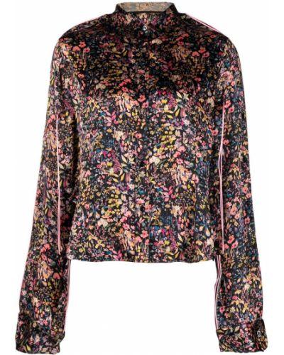 Шелковая черная классическая рубашка с воротником Y Project