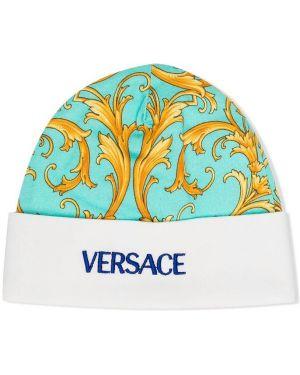 Kapelusz z nadrukiem zielony Young Versace