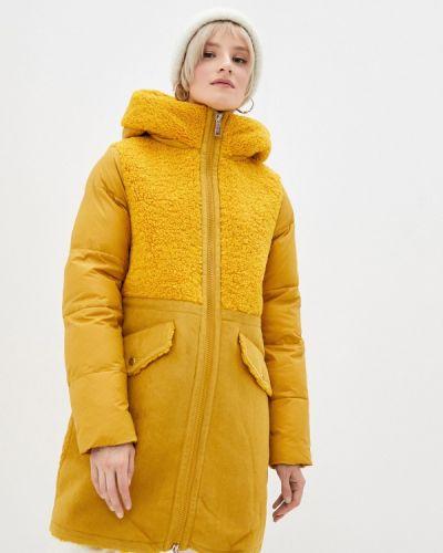 Утепленная желтая куртка Qwentiny