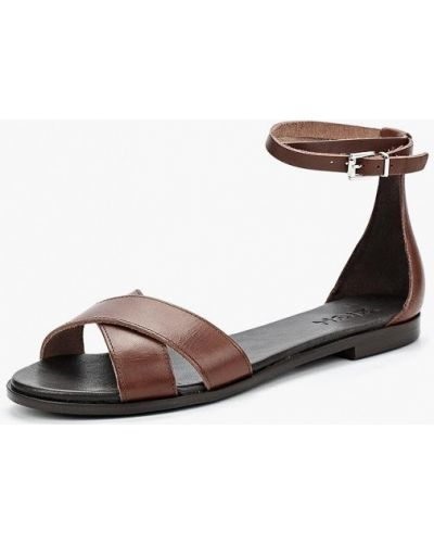 Коричневые сандалии испанские Zign
