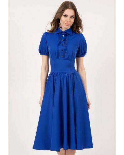 Повседневное платье синее оливковый Olivegrey