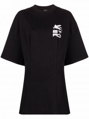 Платье мини короткое - черное Etro