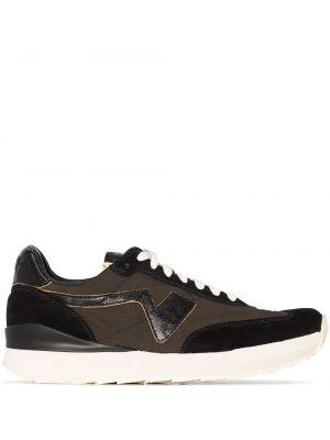 Czarne buty sportowe na obcasie Visvim