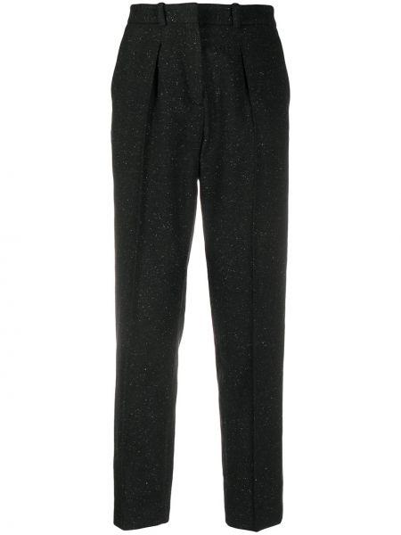Акриловые черные со стрелками брюки на молнии A.p.c.