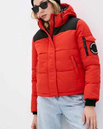 Утепленная красная куртка Superdry