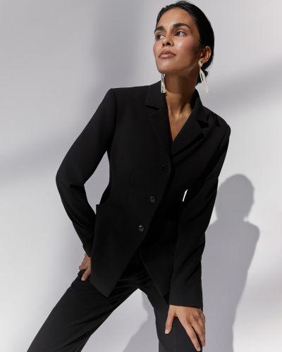Приталенный бархатный черный пиджак 12storeez