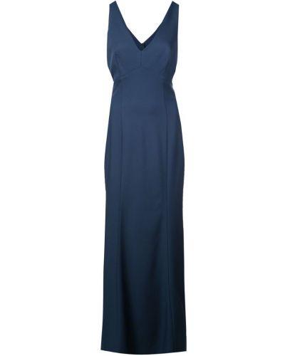 Вечернее платье на пуговицах с длинными рукавами Amsale