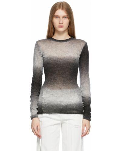Czarny długi sweter wełniany z długimi rękawami Ader Error