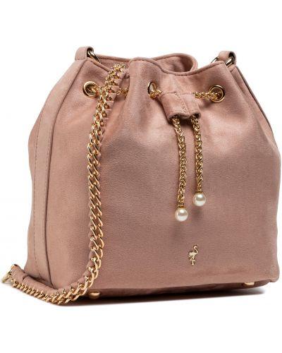 Różowa torebka worek Menbur