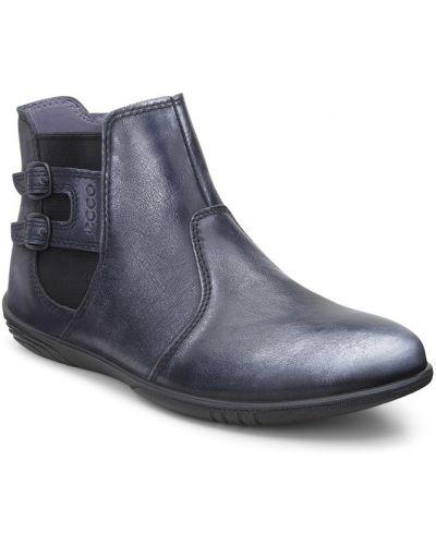 Ботинки на молнии кожаные Ecco