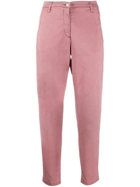 Укороченные брюки розовый с завышенной талией Jacob Cohen