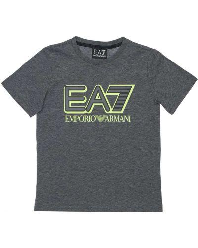 Трикотажная серая футболка Ea7 Emporio Armani
