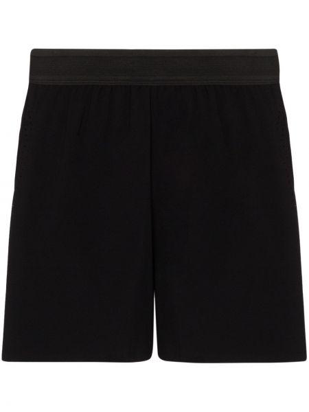 Черные короткие шорты на резинке Soar