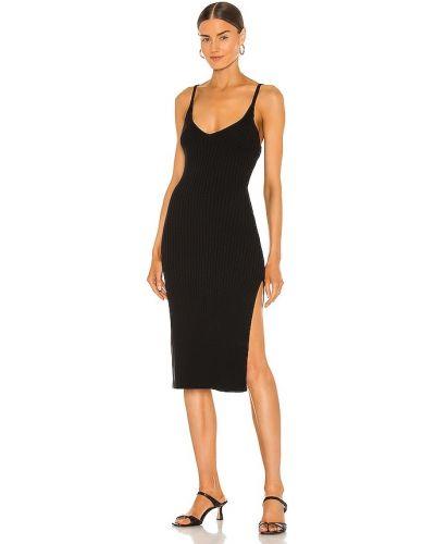 Хлопковое черное платье-свитер винтажное Line & Dot