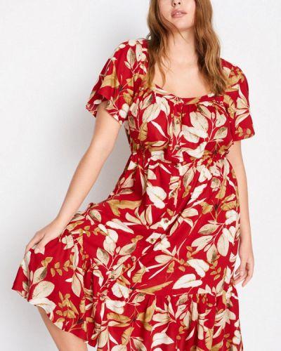 Красное повседневное повседневное платье Violeta By Mango