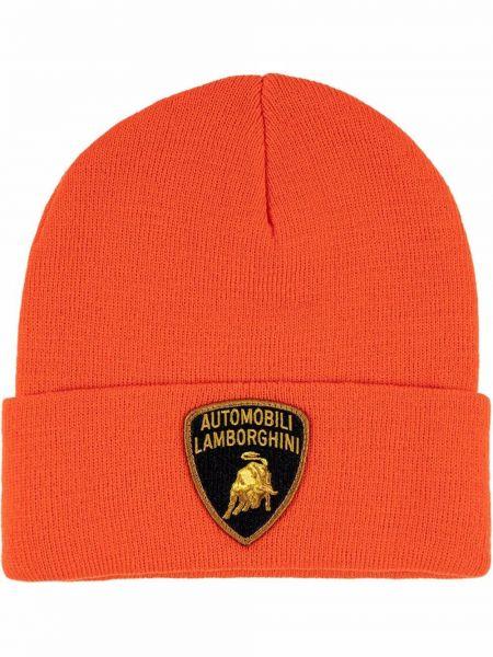 Pomarańczowa czapka z haftem Supreme