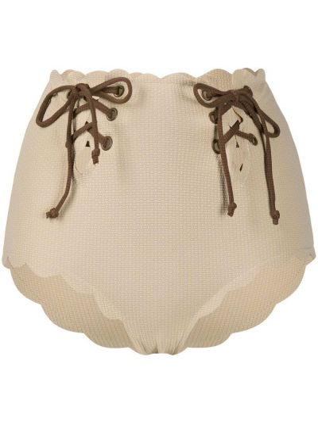 Пляжные бикини на шнуровке с декоративной отделкой Marysia