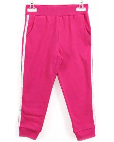 Розовые брюки с начесом из футера Mirdada
