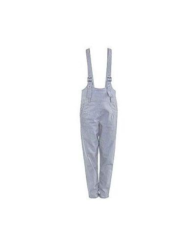 Серый хлопковый джинсовый комбинезон Emporio Armani