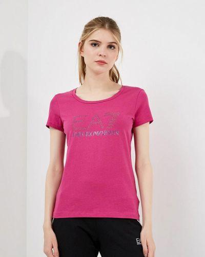 Розовое поло Ea7
